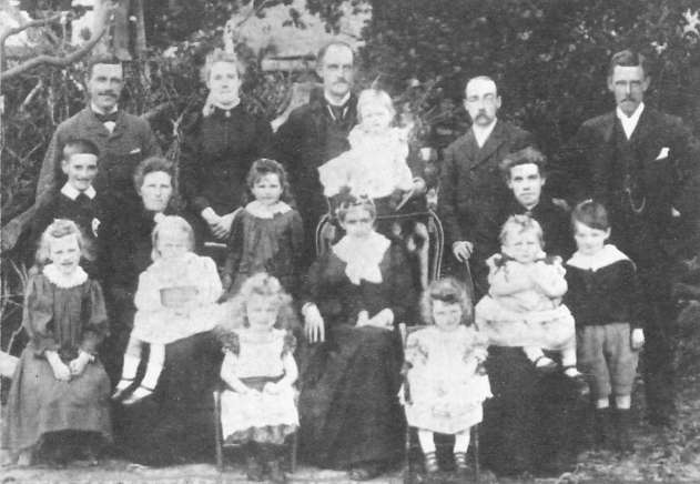 The Fowler family in the 1880's